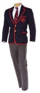 glee blaine Dalton Academy Warblers suit