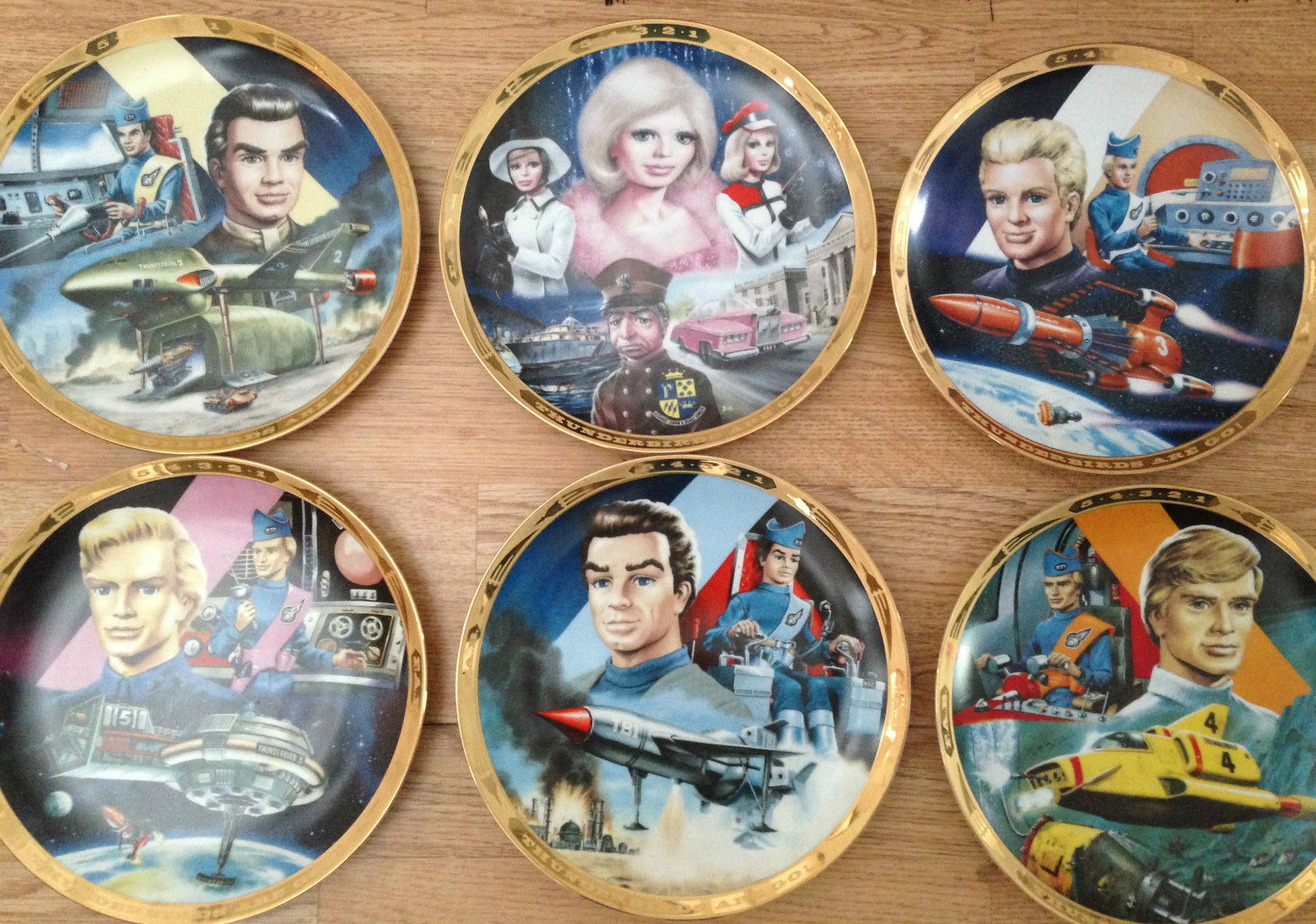 Thunderbirds Hamilton Collection PlatesEst £60-£90
