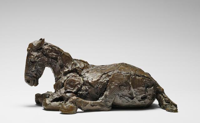 DAME ELISABETH FRINK horse in rain