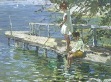 Dorothea Sharp Fishing off the jetty