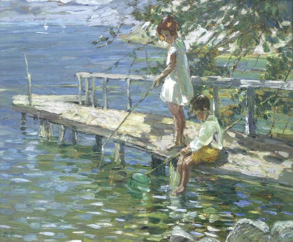 Dorothea Sharp Fishing off the jetty