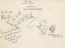 Winnie The Pooh The Wine Waiter (And Piglet Stacking Dishes) At Bonhams Book Sale