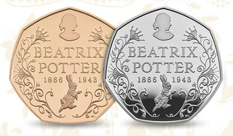 beatrix potter 150th anniversary 50p coins