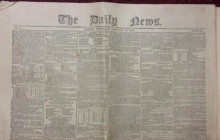 Rare Charles Dickens Daily News Newspaper at Unique Auctions