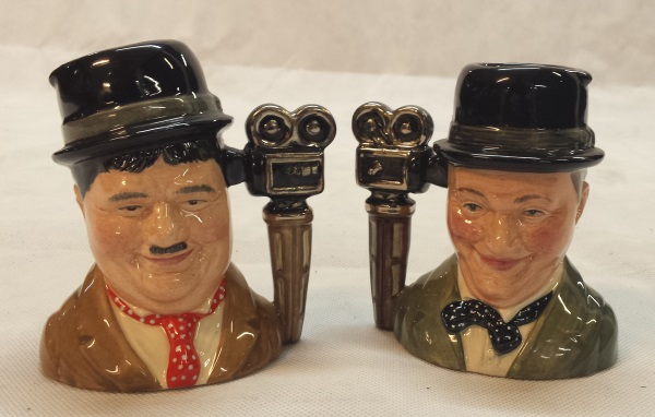 Royal Doulton Laurel and Hardy Character Jugs