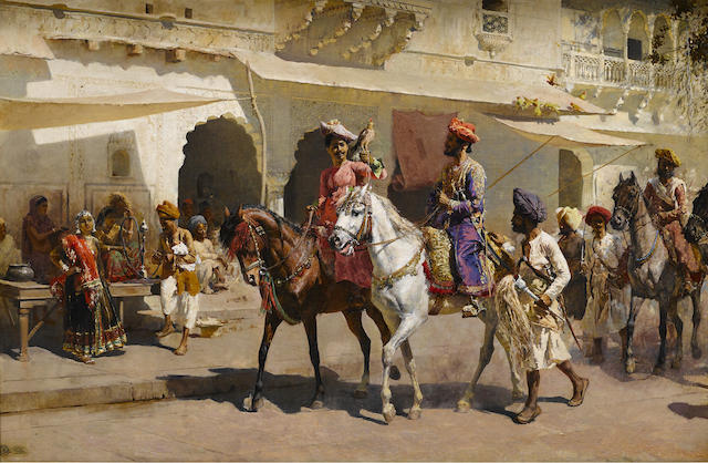 Start for the Hunt at Gwalior by Edwin Lord Weeks