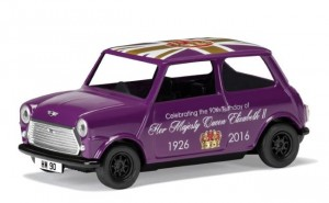 A special edition Classic Mini in regal purple to celebrate the 90th Birthday of HM Queen Elizabeth II.