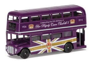 A special edition Classic Routemaster in regal purple to celebrate the 90th Birthday of HM Queen Elizabeth II.