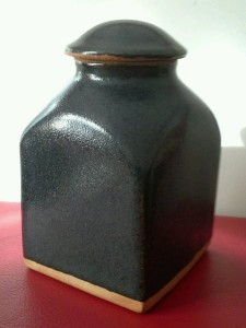 A bernard leach st ives pottery earthenware tea jar and domed cover