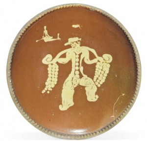 bernard leach pie-crust earthenware dish