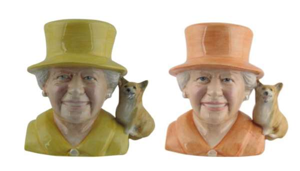 Queen Elizabeth ll 90th Birthday Commemorative Character Jugs