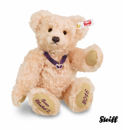 queens 90th birthday steiff teddy bear