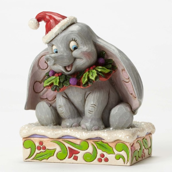Jim Shore Sweet Snow Fall Dumbo 75th Anniversary Figurine