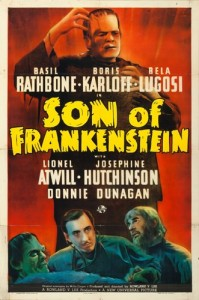"Son of Frankenstein (Universal, 1939). One Sheet (27"" X 41"") Style A."