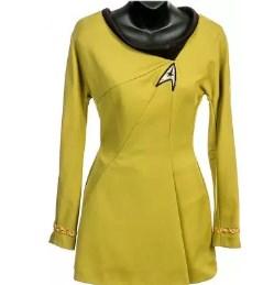 Star Trek Phase Ii Iliia Green Starfleet Mini Dress