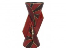 Anita Harris Art Pottery Yo Yo Vase in Deco Ray Design