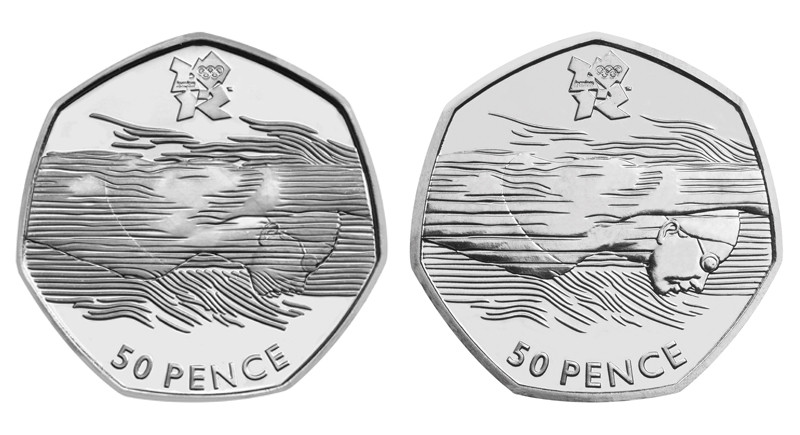 London Olympics 2012 50p coins