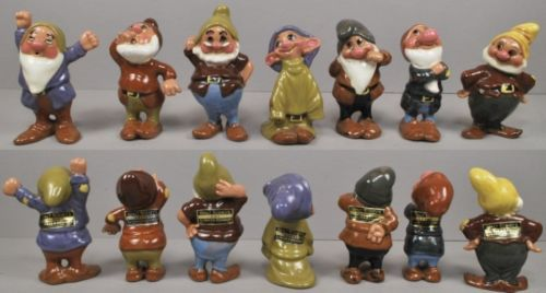 Disney Hagen-Renaker 1950s Snow White Dwarf Set
