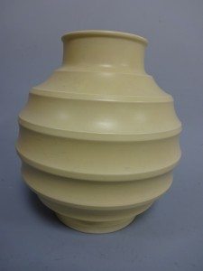 A Keith Murray for Wedgwood cream coloured ovoid vase (approx 25cm high)Sold for £130 at Richard Winterton Auctioneers, Nov 2016
