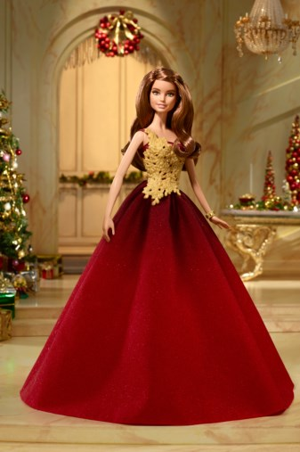 holiday barbie 2016 red
