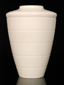 keith murray tapering vase with moonstone glaze