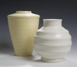 Keith Murray A Wedgwood cream glazed vase