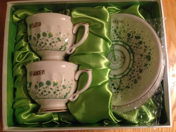 Wicked The Musical London 10th Anniversary Double Teacup Saucer Set Ltd Edition