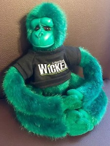 Green Monkey withwrap around arms and legs