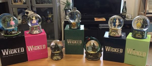 wicked the musical snow globes