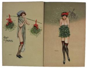 Raphael Kirchner The Paris Mistletoe The Mistletoe Muff