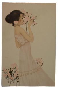 Raphel Kirchner girl in lilac dress
