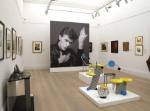 "Installation view of works by Memphis at the exhibition ""Bowie/Collector"" at Sotheby's London. Photo ©Sotheby's."
