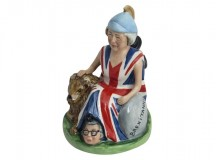 Theresa May Prime Minister Brexitannia Figure from Bairstow Pottery