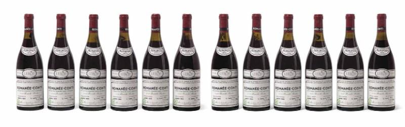 12 bottles Domaine de la Romanée-Conti Romanée-Conti 1988