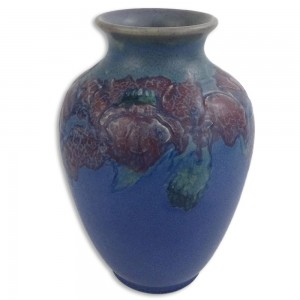 A 1913 Rookwood Glazed Pottery Vase By Charles Stanley Todd. Impressed Rookwood Mark and artists initials. Sold for $800, August 2016 at Kodner Galleries