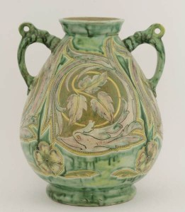 A Della Robbia Birkenhead pottery vase 1894 -1901