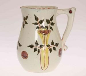 A Della Robbia Pottery Jug By Ruth Bare