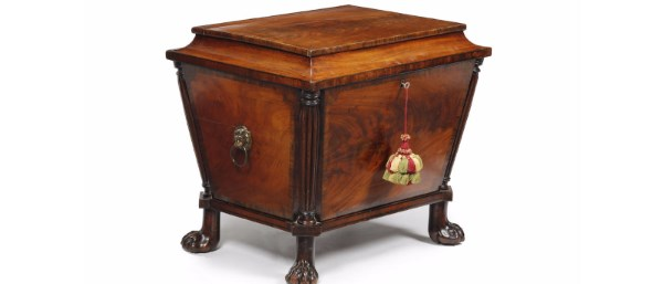 An early 19th century mahogany cellarette