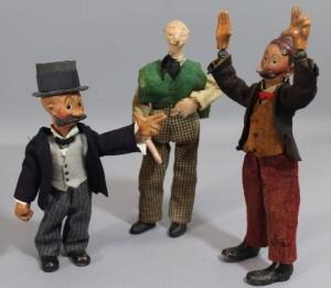 Swiss Bucherer Mutt & Jeff and Andy Gump Cartoon Doll