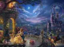 Thomas Kinkade Company's Beauty and the Beast Dancing in the Moonlight