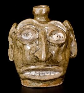 Exceptional Folk Art Face Jug Edgefield SC circa 1845-60