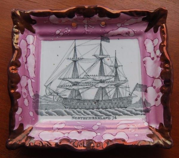 Sunderland Lustre Wall Plaque featuring Northumberland ship