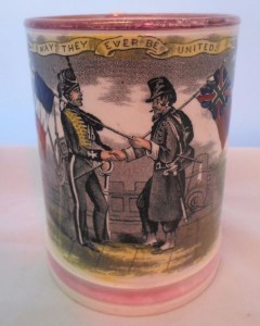 A Sunderland lustre frog tankard featuring the Crimea War.Sold for £280 on ebay, January 2017.