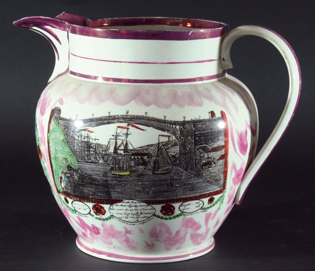 Sunderland lustre jug with Sunderland Bridge