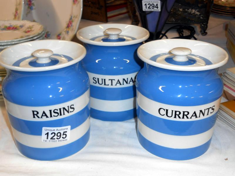 t g green storage jars sultanas currants raisin