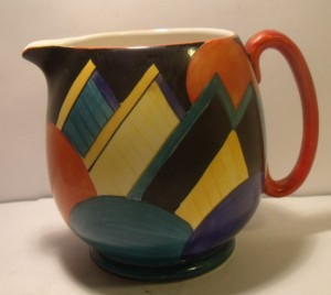 Susie Cooper Jug Grays Pottery Cubist Design 1920s Sold on ebay £132 March 2017