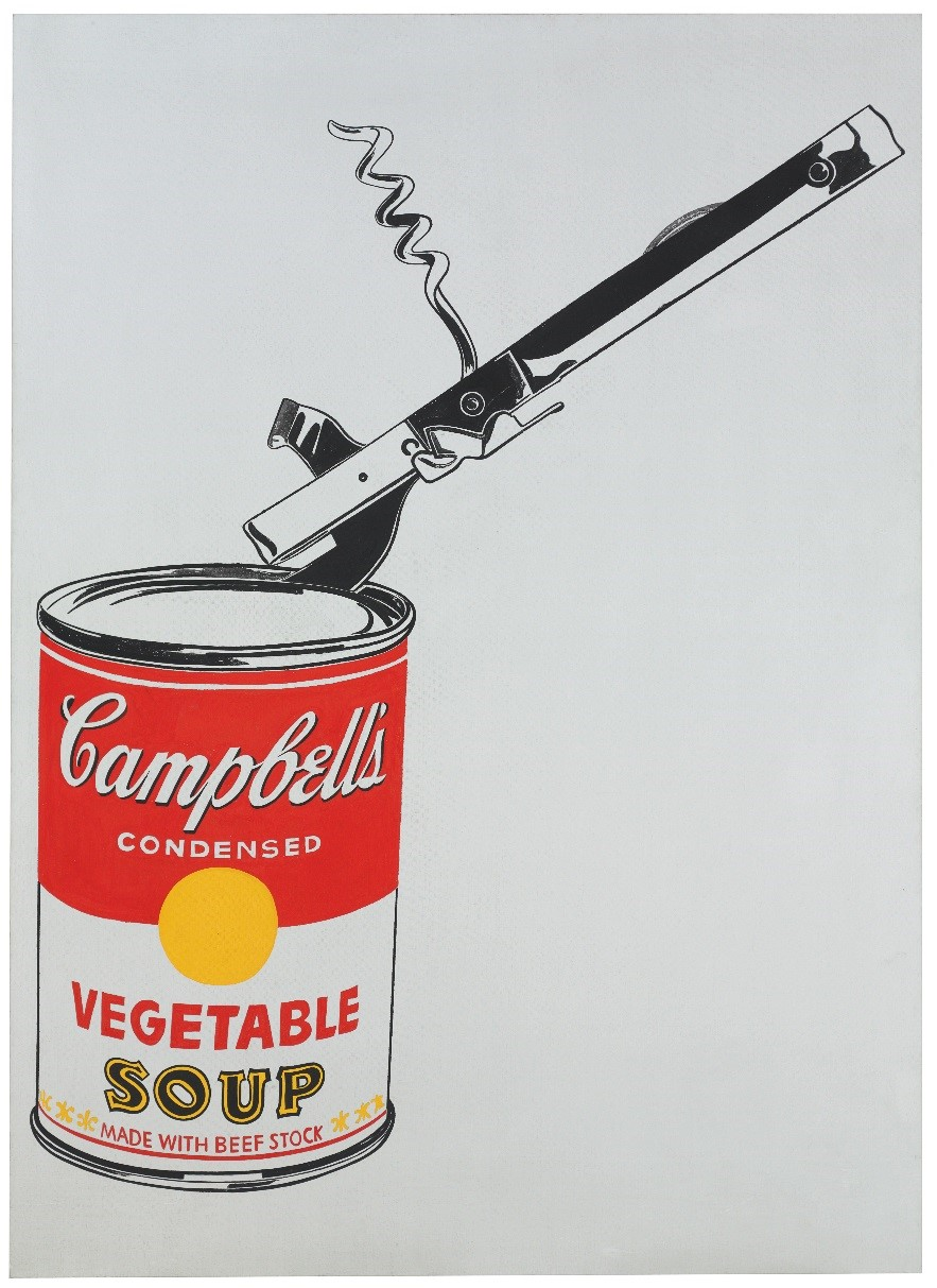 Andy Warhols Soup Can with Can Opener Vegetable
