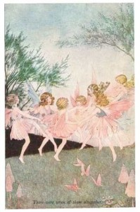 There were seven of them altogetherFairy Seven Fairies PostcardSold for £20.00 on ebay Dec 2017