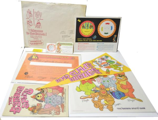 1968 BANANA SPLITS CLUB OFFICIAL CHARTER MEMBER MEMBERSHIP KIT