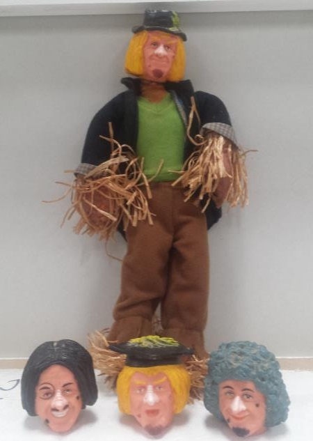 worzel gummidge toy with heads